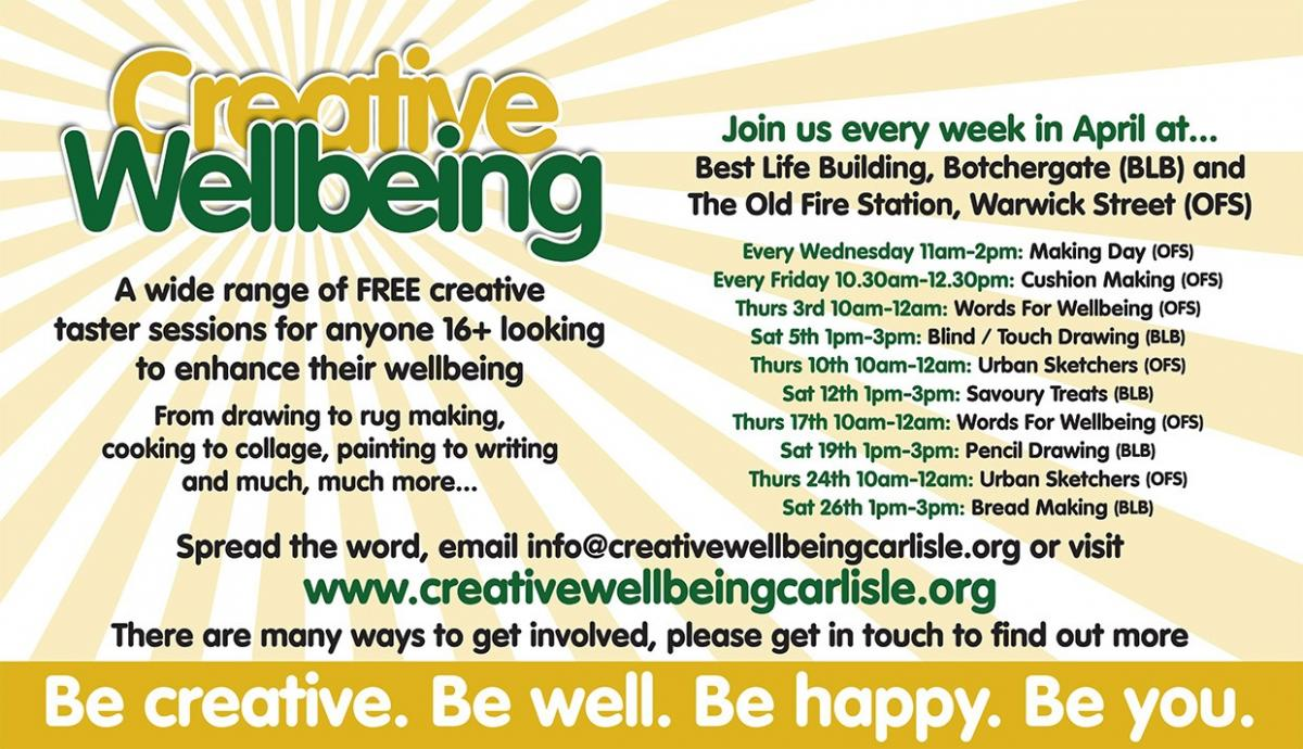 Creative Wellbeing April 2014