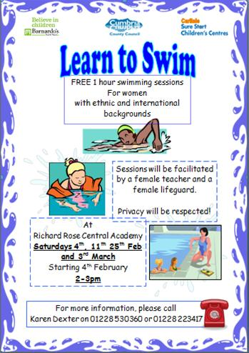 Free 1 Hour Swimming Lessons for BME women